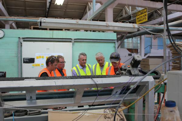 Directors visit to see progress on CNC machine - Brendon, Ian, Rob (Director), Kevin (Director) & Brian
