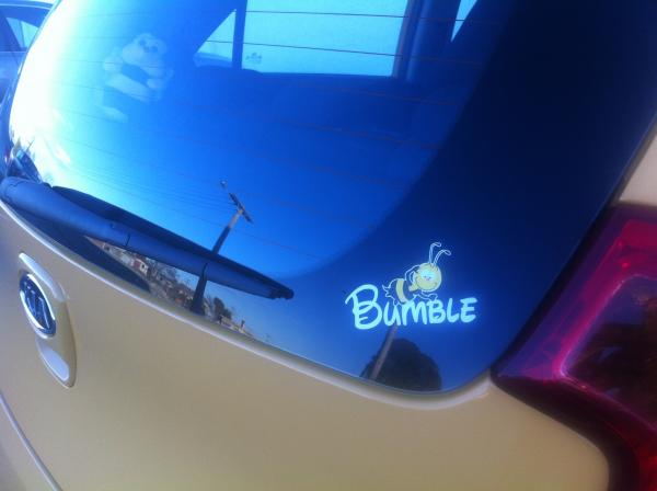 Mandy's car is called Bumble - does that qualify?