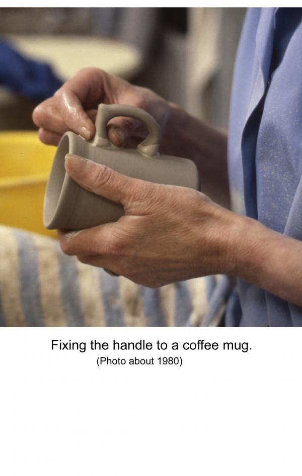 Fixing the handle to the cup