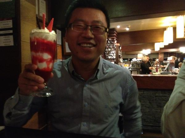 Tony (with sundae) and CH were good value when DTR visited
